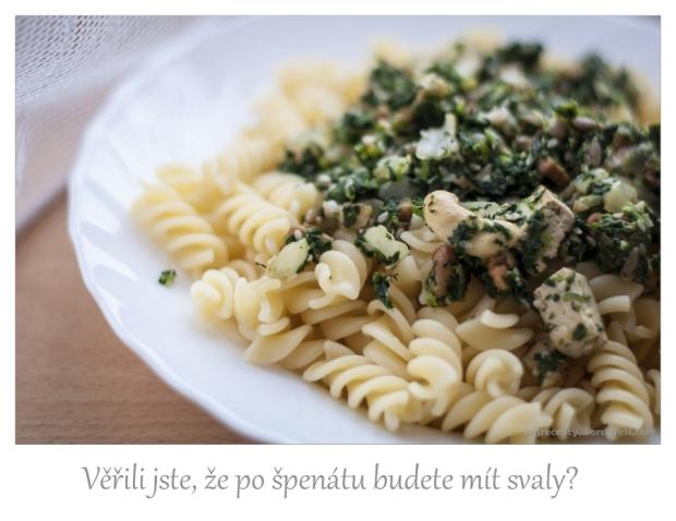 špagety-špenát